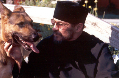 dog and monk